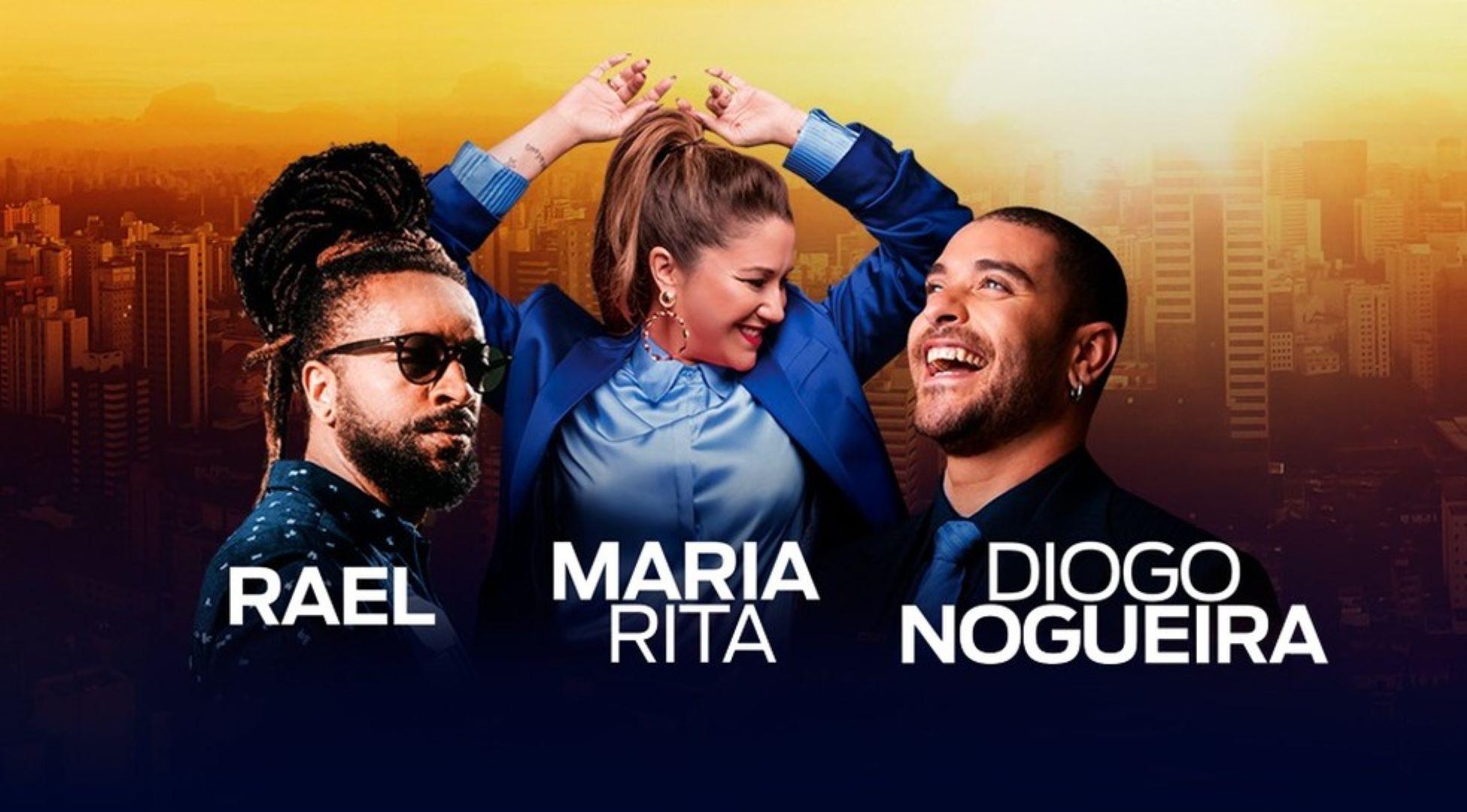 Maria Rita, Rael e Diogo Nogueira